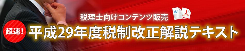 超速!平成29年度税制改正解説テキスト