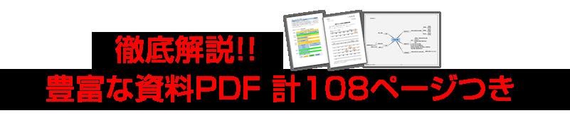 徹底解説!豊富な資料PDF108ページつき!